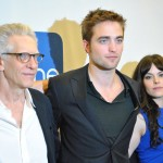 David Cronenberg, Rob Pattinson and Emily Hampshire