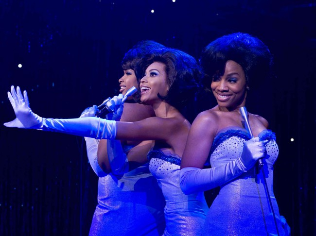 Based on the Broadway musical that made Jennifer Holliday a star, Dreamgirls follows a seedy music exec as he turns a trio of female singers into stars and shakes their world up when he demotes the hefty big-voiced ingénue (Jennifer Hudson) in favor of her less talented but prettier back-up singer (Beyoncé Knowles).