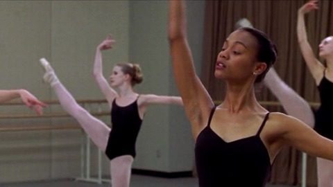 A versatile actress, perhaps best known for her role in James Cameron's box-office hit Avatar – Zoe Saldana is also a talented dancer. She developed her love for dancing while studying ballet in the Dominican Republic and has since incorporated that passion with her love for acting in films such as Center Stage and Drumline.