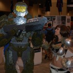 Lego Master Chief and Skyrim costume