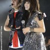 Justin Bieber and Carly Rae Jepsen preforming in London, England