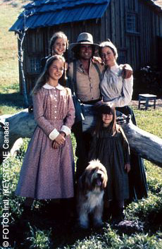The original cast of the tv series Little House on the Prairie