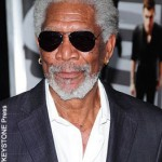 Morgan Freeman snoozes during live TV interview