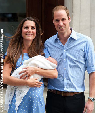 Kate Middleton, Prince William and baby George