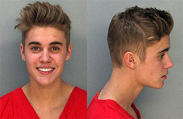 Justin Bieber's mug shots taken January 23, 2014
