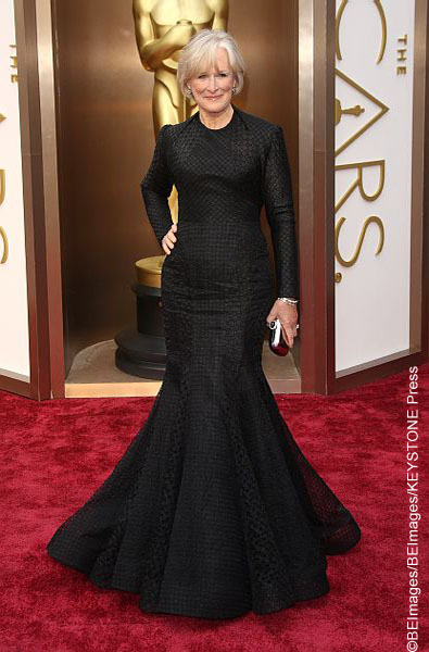 "Sporting an all-black two piece gown by Zac Posen, the actress was going for a ""mermaid"" look here. Unfortunately, it fell flat with a poor fabric choice and sleeves that did not flatter her at all."