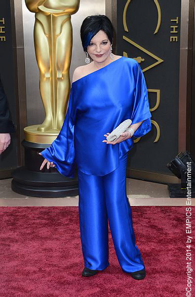 Possibly inspired by her blue hair streak, this entire outfit was just a complete unflattering mess. This cobalt blue jumpsuit just hung on the star leaving her almost unrecognizable.