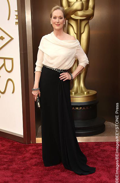 This veteran actress usually shines but this time her outfit was quite dim. She showed up to this year's red carpet in a very unflattering white blouse tucked into a black skirt with a rather large belt. It was plain and certainly not her best ensemble.