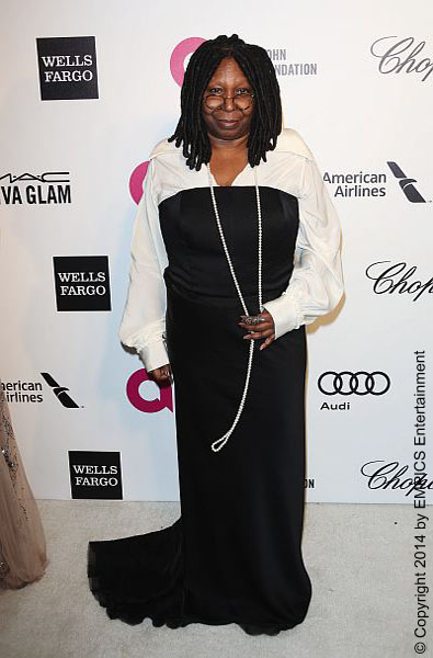 Whoopi Goldberg was probably trying to recreate the gown Julia Roberts wore to the Golden Globes. But this questionable red carpet dress did not suit Whoopi at all. Pairing a white button-up blouse under a black strapless gown may have worked for Julia but recreating that look was a poor choice on Whoopi's part.