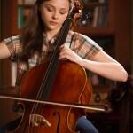 Chloe Grace Moretz's head pasted on cellist's body