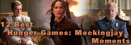 Jennifer Lawrence returns as Katniss Everdeen in The Hunger Games: Mockingjay – Part 1. We've chosen our favorite moments from the film, including Katniss' first stirring speech as the Mockingjay and the tear-inducing moment when Katniss sees Peeta alive for the first time.