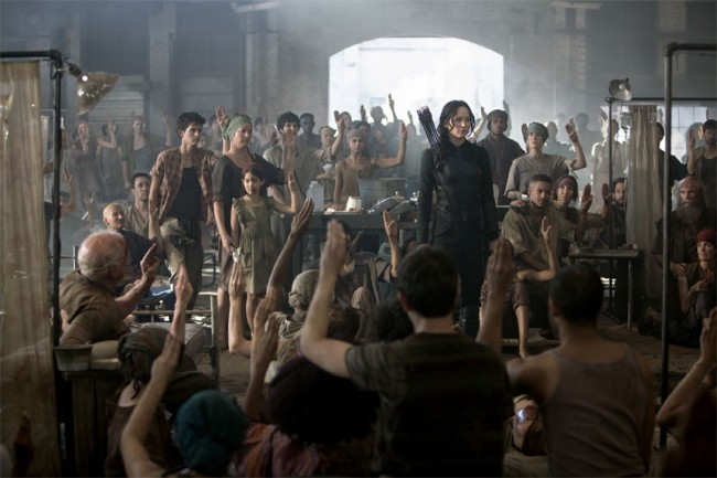 We were moved when Katniss told the patients in the makeshift District 8 hospital she would fight for them.