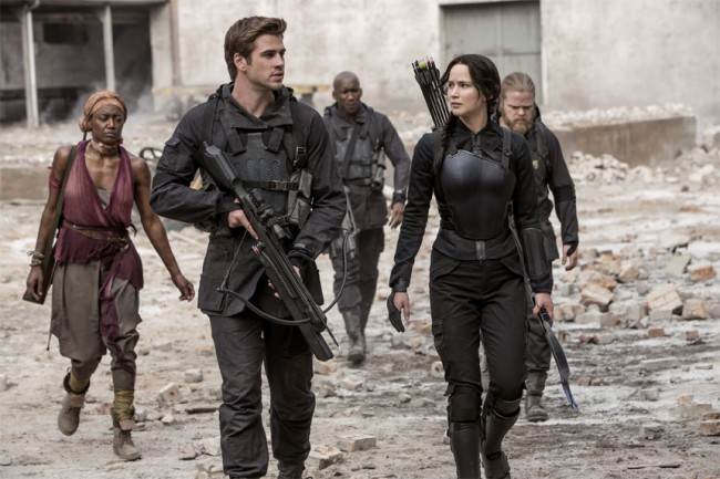 We wanted to comfort Gale right alongside Katniss while he described his guilt at not being able to rescue everyone during the massacre and destruction of District 12.