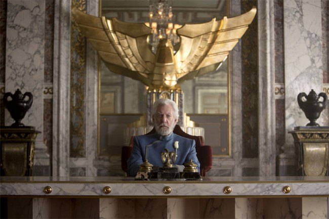 President Snow made us squirm with the lengths he went to in order to stop the rebellion, executing anyone associated with the Mockingjay.