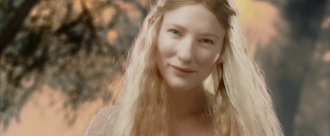 """Galadriel is a Royal elf, described in the book by J.R.R. Tolkien as""""the mightiest and fairest of all the Elves that remained in Middle-earth"""" and the """"greatest of elven women."""" Cate Blanchett was a perfect choice for the regal elf, having won an Academy Award for her portrayal of Queen Elizabeth I in Elizabeth."""