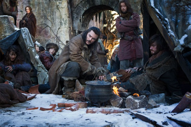 Bard the Bowman (Luke Evans) is known for successfully slaying Smaug with his Black Arrow and becoming the founder and first king of the New Kingdom of Dale. With the intention to aid his town, he bartered with Thorin and agreed to help Bilbo battle against their common enemy.