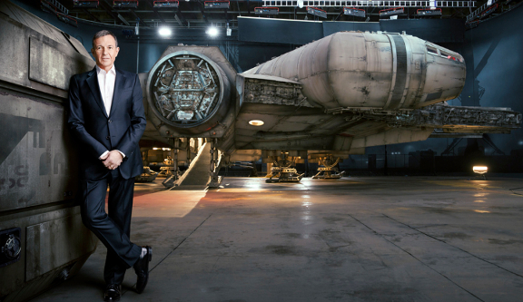 Bob Igor with new Star Wars Millenium Falcon courtesy Fortune magazine