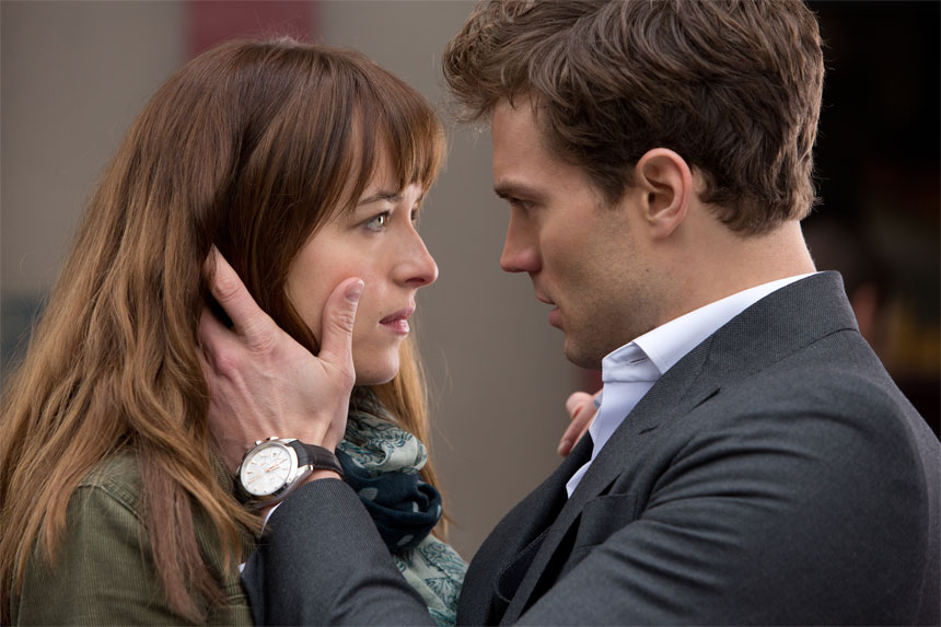 Dakota Johnson and Jamie Dornan in Fifty Shade of Grey