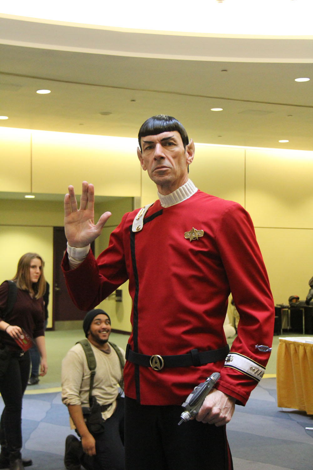 Cosplayer dressed as Spock