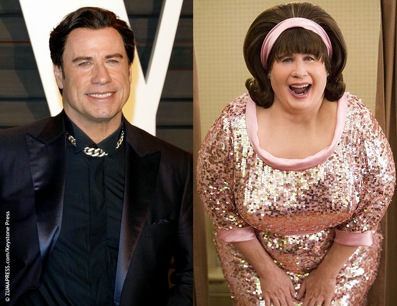 In 2007, John Travolta transformed into Edna Turnblad for his role as an overprotective mother in Hairspray. The look took five hours to complete, using extensive makeup and prosthetics. He even wore heels.