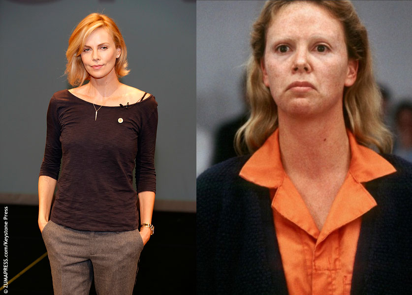Charlize Theron is unrecognizable in her role as serial killer Aileen Wuornos in 2003's Monster. She gained 30 pounds by eating potato chips and Krispy Crème donuts (but mostly potato chips), shaved off her eyebrows and wore prosthetic dentures and contact lenses. Her worn and blotchy skin was achieved by layering on washable tattoo ink. […]
