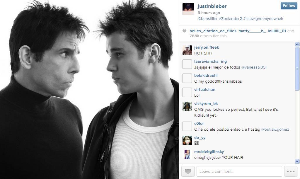 Ben Stiller and Justin Bieber