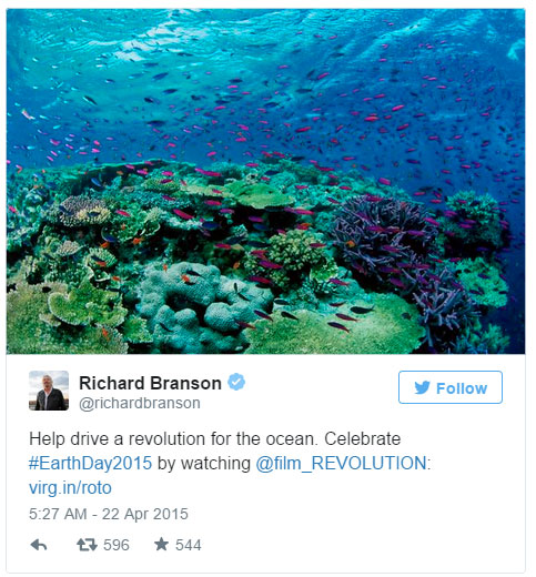 Richard Branson Revolution tweet