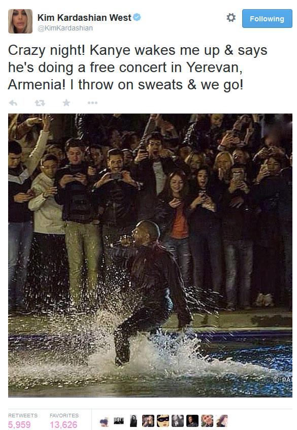 Kanye West in Swan Lake
