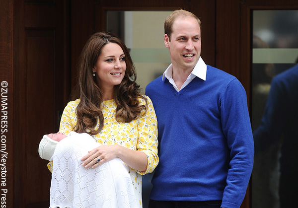 Kate Middleton, Prince William and Princess Charlotte