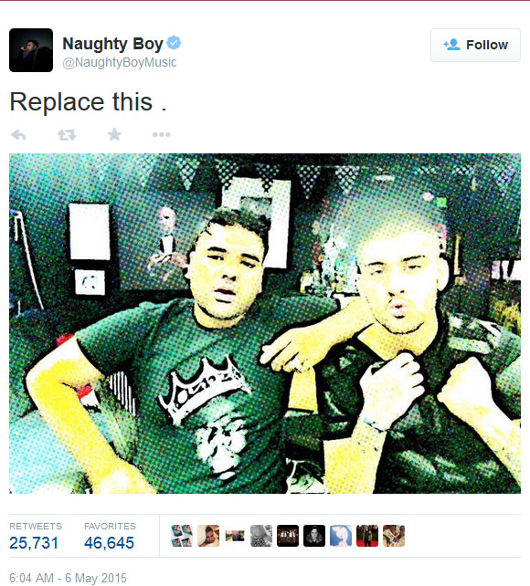 Naughty Boy on Twitter