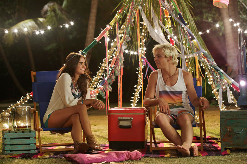 Maia Mitchell and Ross Lynch in Teen Beach 2