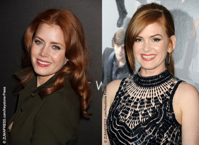 Amy Adams and Isla Fisher look so much alike that the two are often considered for the same parts in movies.