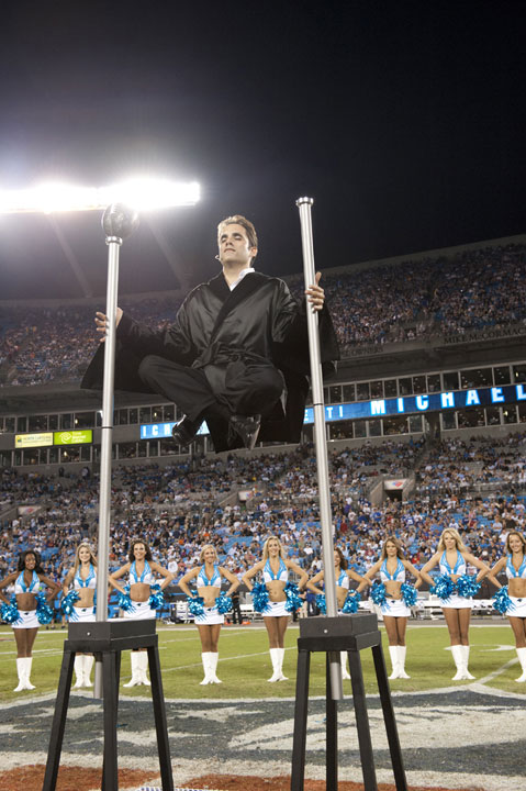 Michael Grandinetti performing Levitation during NFL Halftime