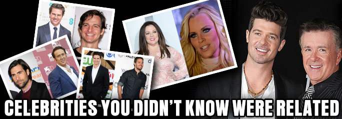 They say that Hollywood is one big family. While that may be partially true, there is no escaping the fact that certain celebrities ARE family. Take a look at some of the celebrities you didn't know were related inside — you may be amazed by some of the connections. ~Greg Chisholm