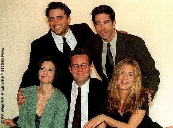 Friends cast: David Schwimmer, Jennifer Aniston, Lisa Kudrow, Courteney Cox, Matthew Perry, Matt LeBlanc