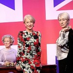 Dame Helen Mirren meets wax models