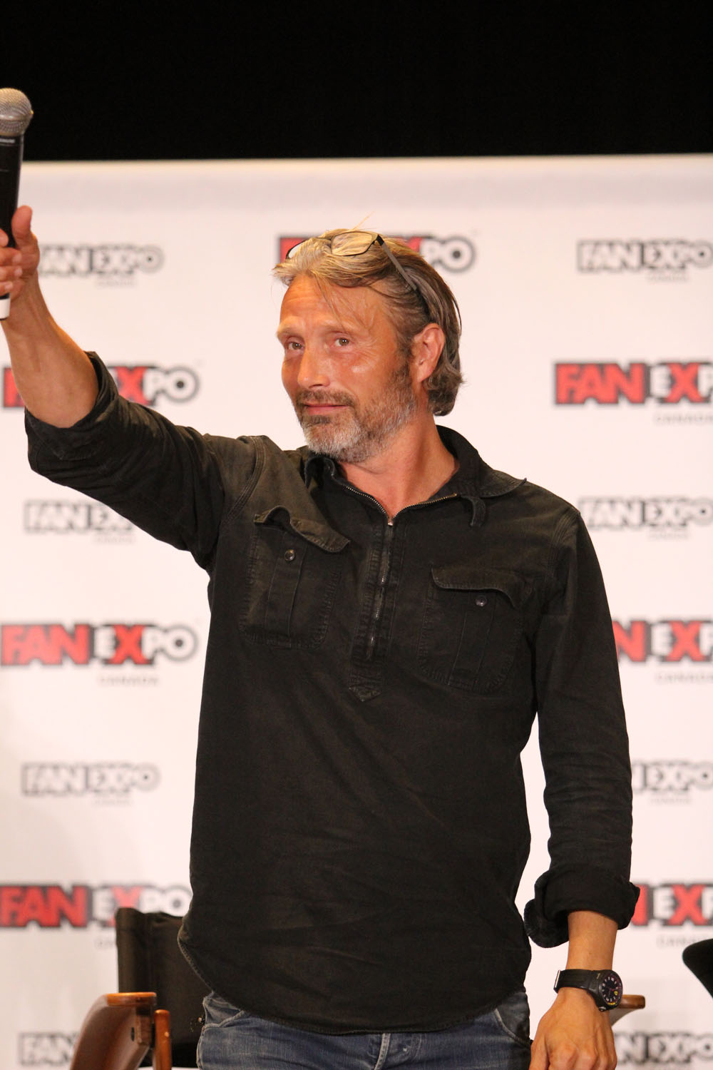 Mads Mikkelson salutes the crowd