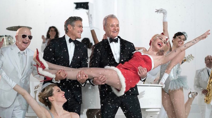 Paul Schaffer, George Clooney, Bill Murray and Miley Cyrus