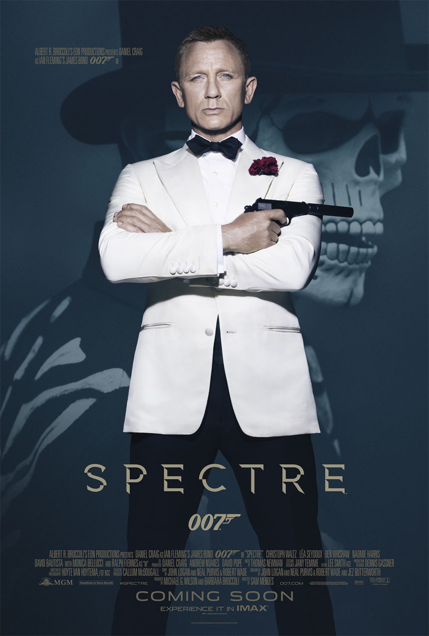 Spectre poster starring Daniel Craig