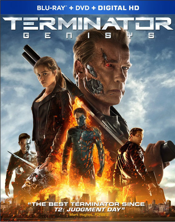 Terminator Genisys Blu-ray and DVD
