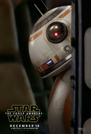 BB-8 Star Wars: The Force Awakens poster