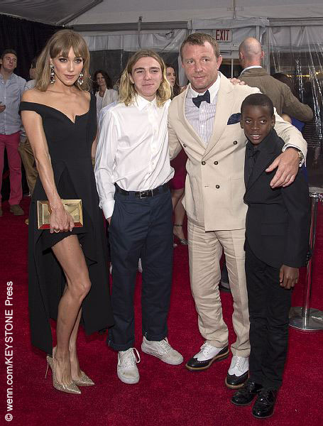 Left to right: Jacqui Ainsley, Rocco Ritchie, Guy Ritchie and David Ritchie