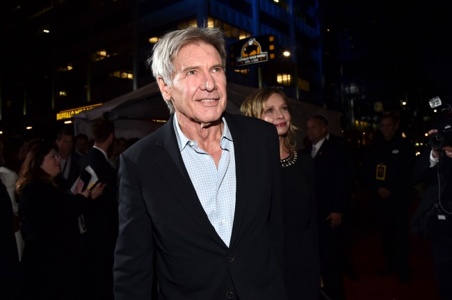 Harrison Ford, who returned to the Star Wars universe to reprise his role as adventurer Han Solo, arrived at the premiere with his wife, actress Calista Flockhart.