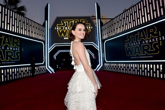 Daisy Ridley, who plays Rey, was a fan favorite on the red carpet. She's not only a newcomer to Star Wars, but to acting – she made her first screen appearance in 2013.