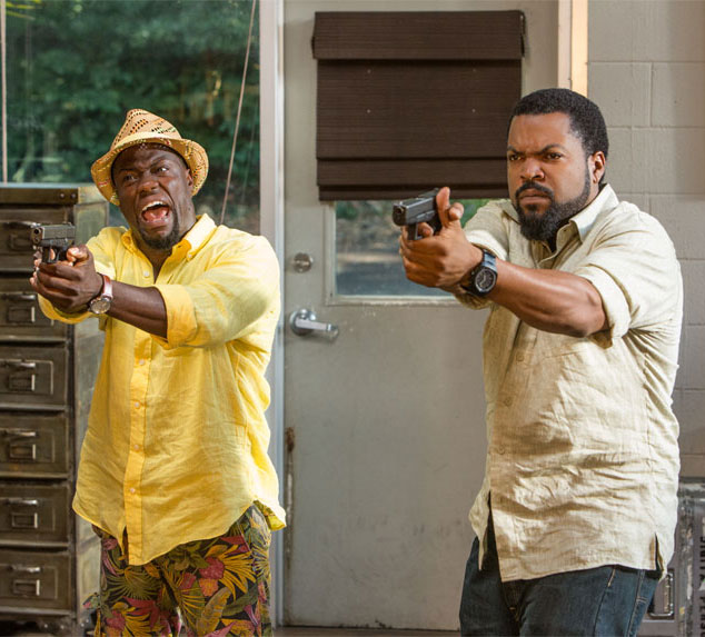 Kevin Hart and Ice Cube in a scene from Ride Along 2