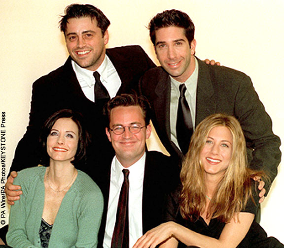 Jennifer Aniston, Matt LeBlanc, David Schwimmer, Courteney Cox, Lisa Kudrow and Matthew Perry