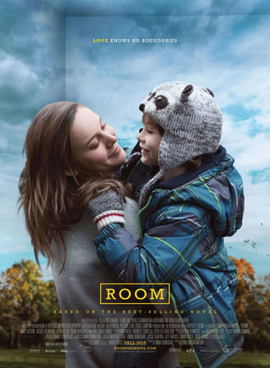 Room movie poster starring Brie Larson and Jacob Tremblay