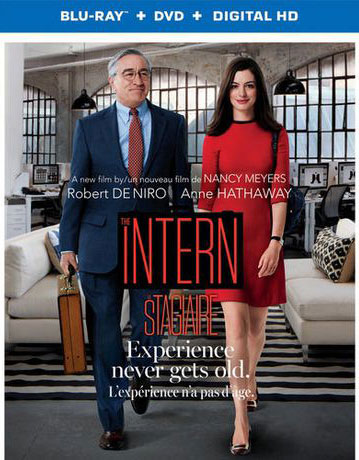 The Intern starring Robert De Niro and Anne Hathaway on DVD and Blu-ray