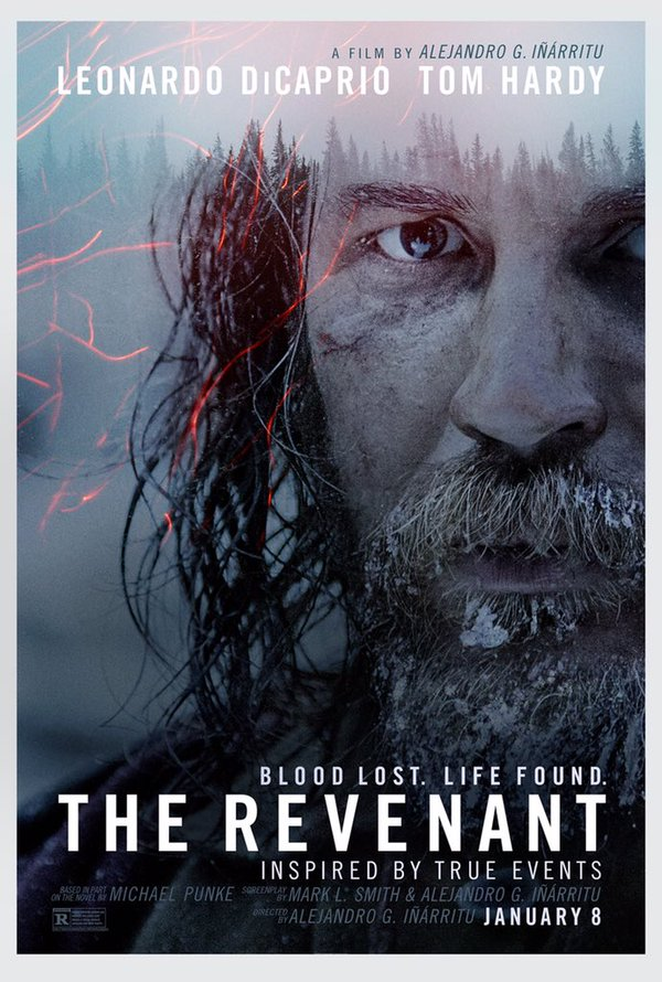 The Revenant movie poster starring Leonardo DiCaprio