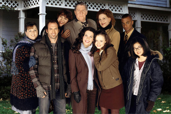 Gilmore Girls cast - Melissa McCarthy is at the far left